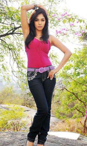Telugu Actress Rithika In Pink Top & Jeans