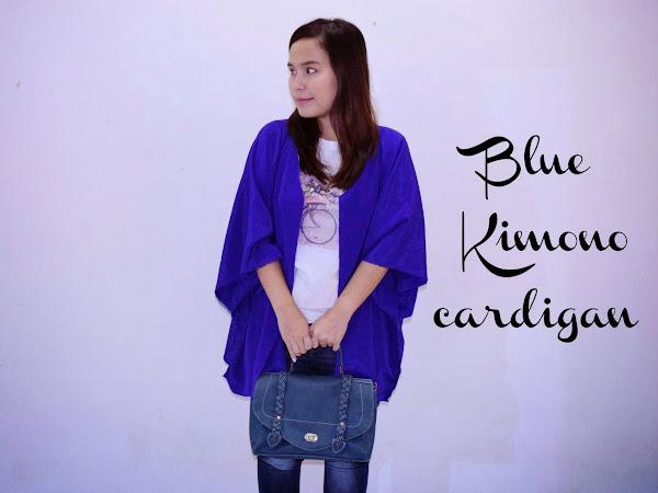 Outfit Diary: Blue kimono cardigan