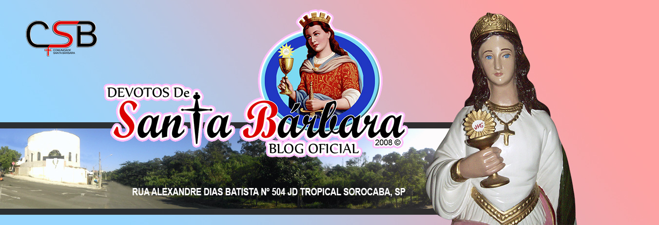Blog Dos Devotos de Santa Bárbara