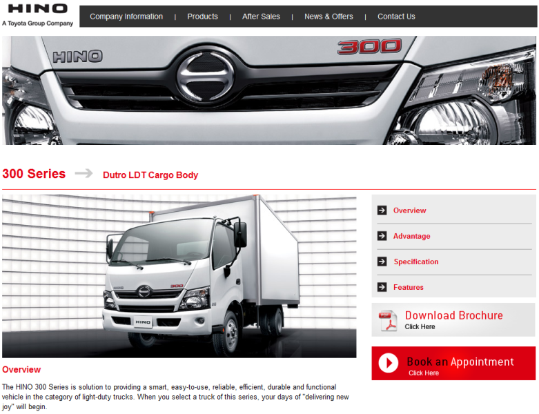 trusted distributor of HINO trucks in the UAE