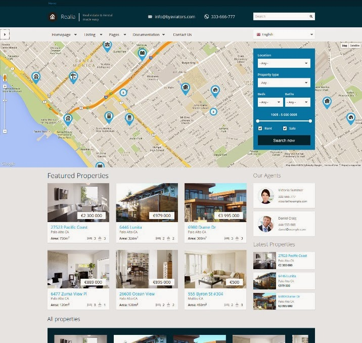 Realia - Responsive Real Estate Drupal Theme