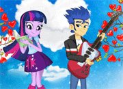 Twilight Sparkle & Flash Kissing