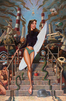 surf pin up girl
