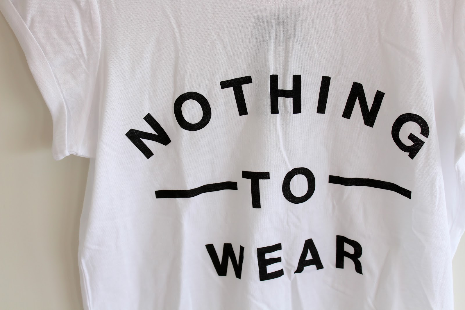 New Look, New Look slogan tee, New Look t-shirt, New Look nothing to wear, New Look slogan top, New Look white top