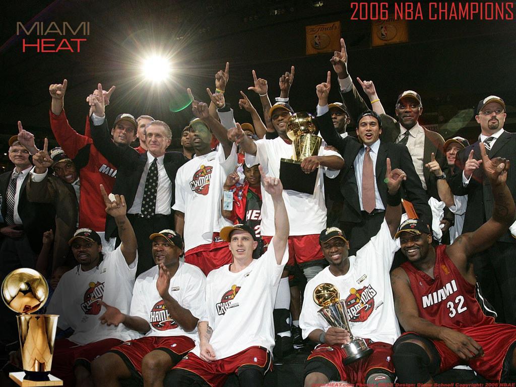 Miami heat roster nba - 2006 Nba Champions