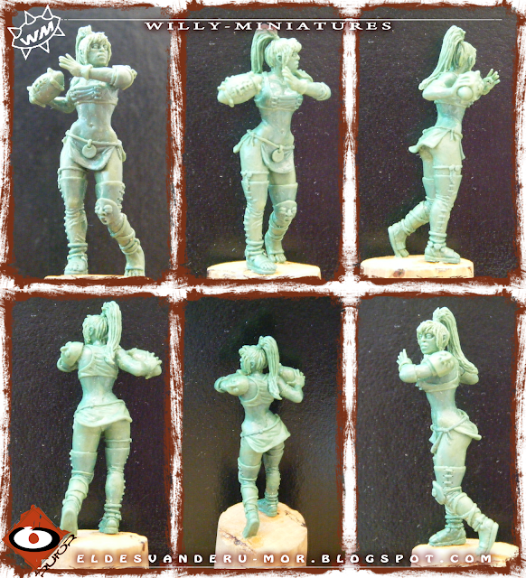 Bowl Amazon Team Thrower miniature by ªRU-MOR for WILLY Miniatures