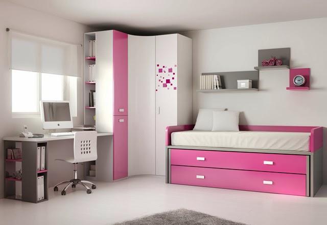 Dormitorio Juvenil Con Cama Compacto Con Cama Arriba