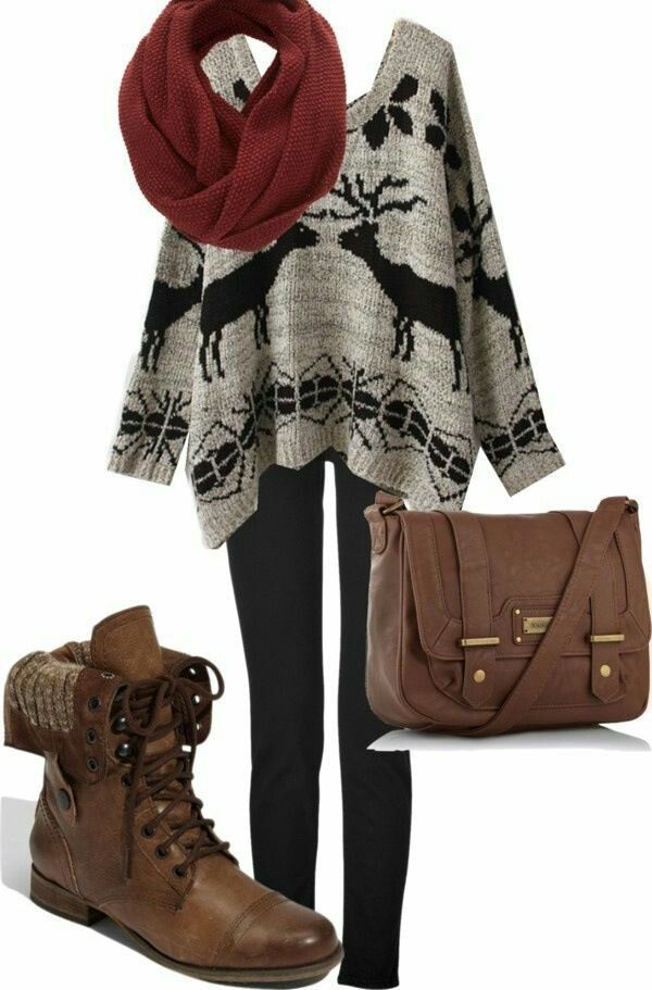 Cozy Sweater Outfit for Winter 2015