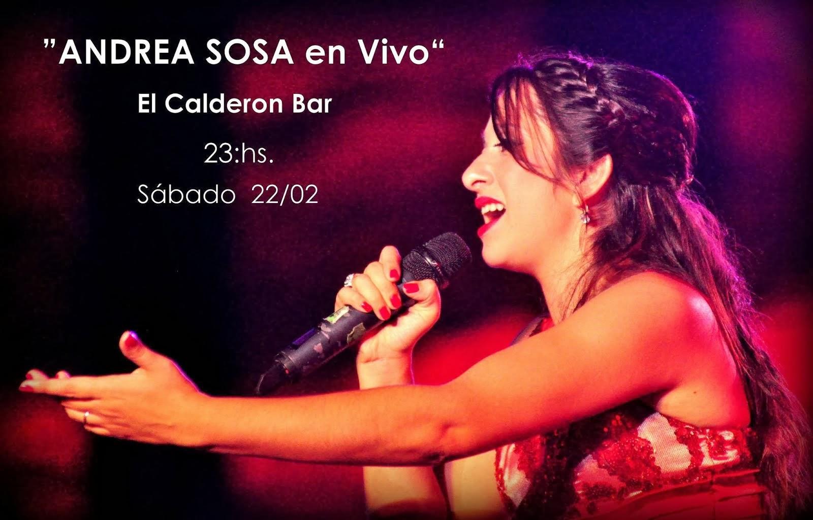 Andrea Sosa en vivo en El Calderón Bar+Chamame