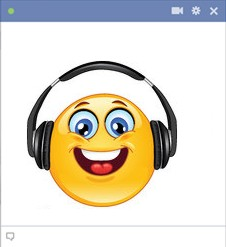 Facebook smiley listening music