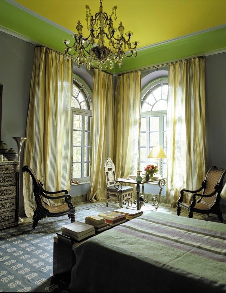plafon warna hijau dan kuning