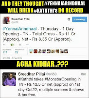 Yennai Arindhaal Failed To Beat Kaththi
