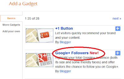Google+ Widget for blogger, Google+ Follower Widget, Google+ Gadget, Google plus follower gadget