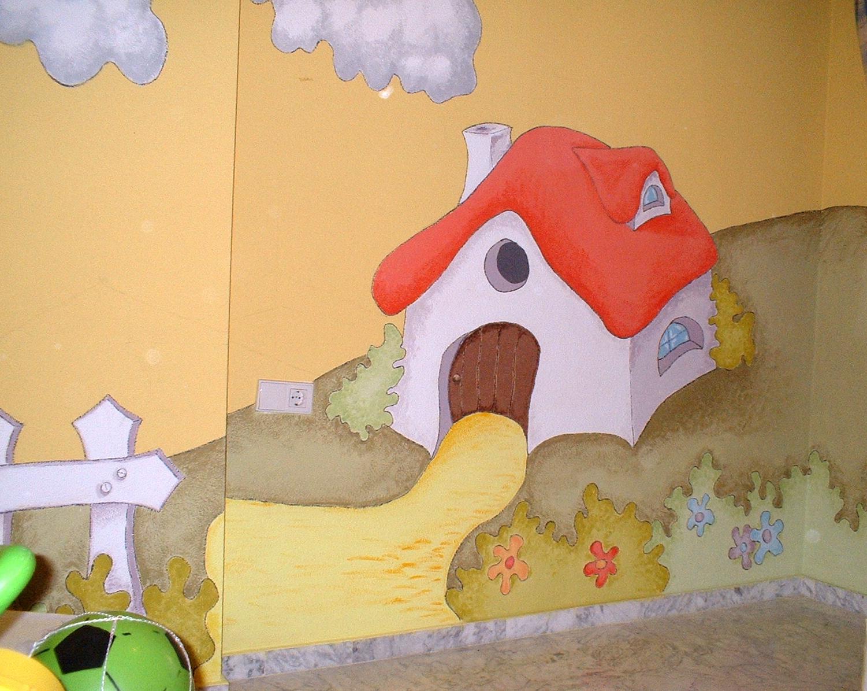 Murales infantiles pintados a mano 9 cuarto de juegos - Murales infantiles pintados a mano ...