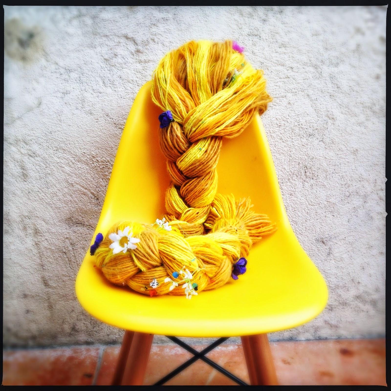 DIY : la perruque de Raiponce en laine