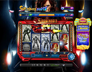 Flying Iron Man pops up on Superhero Slots