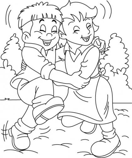 free printable friendship coloring pages - photo#11