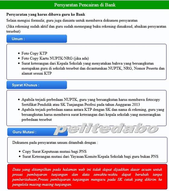 Cek Info SK Tunjangan Profesi di Website Direktorat P2TK Dikdas