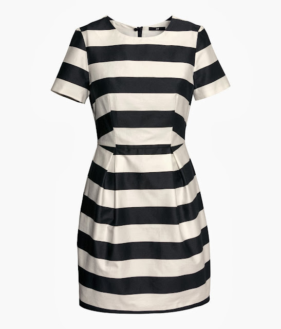 stripe satin dress