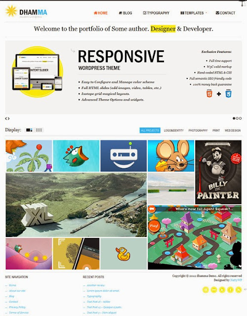 Dhamma WordPress Theme NattyWP - Download Website Templates