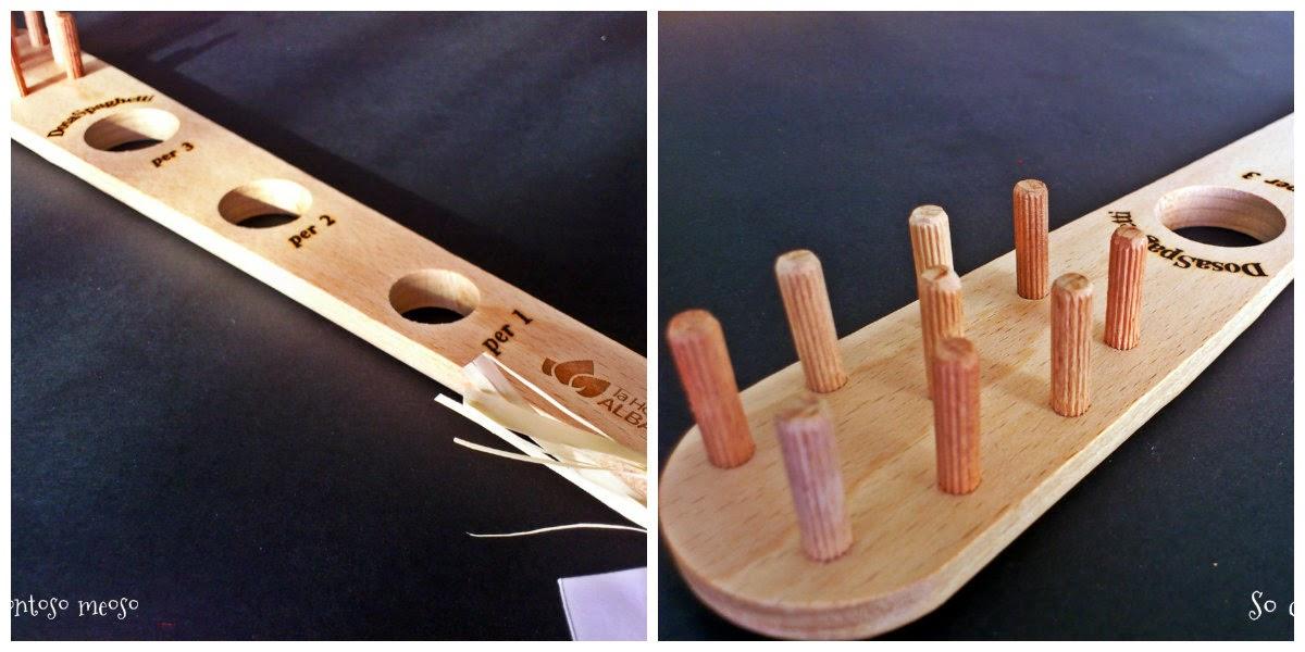 spaghetti measuring tool, spaghetti tool, wood, handcraft, spaghetti doser, doser, handmade