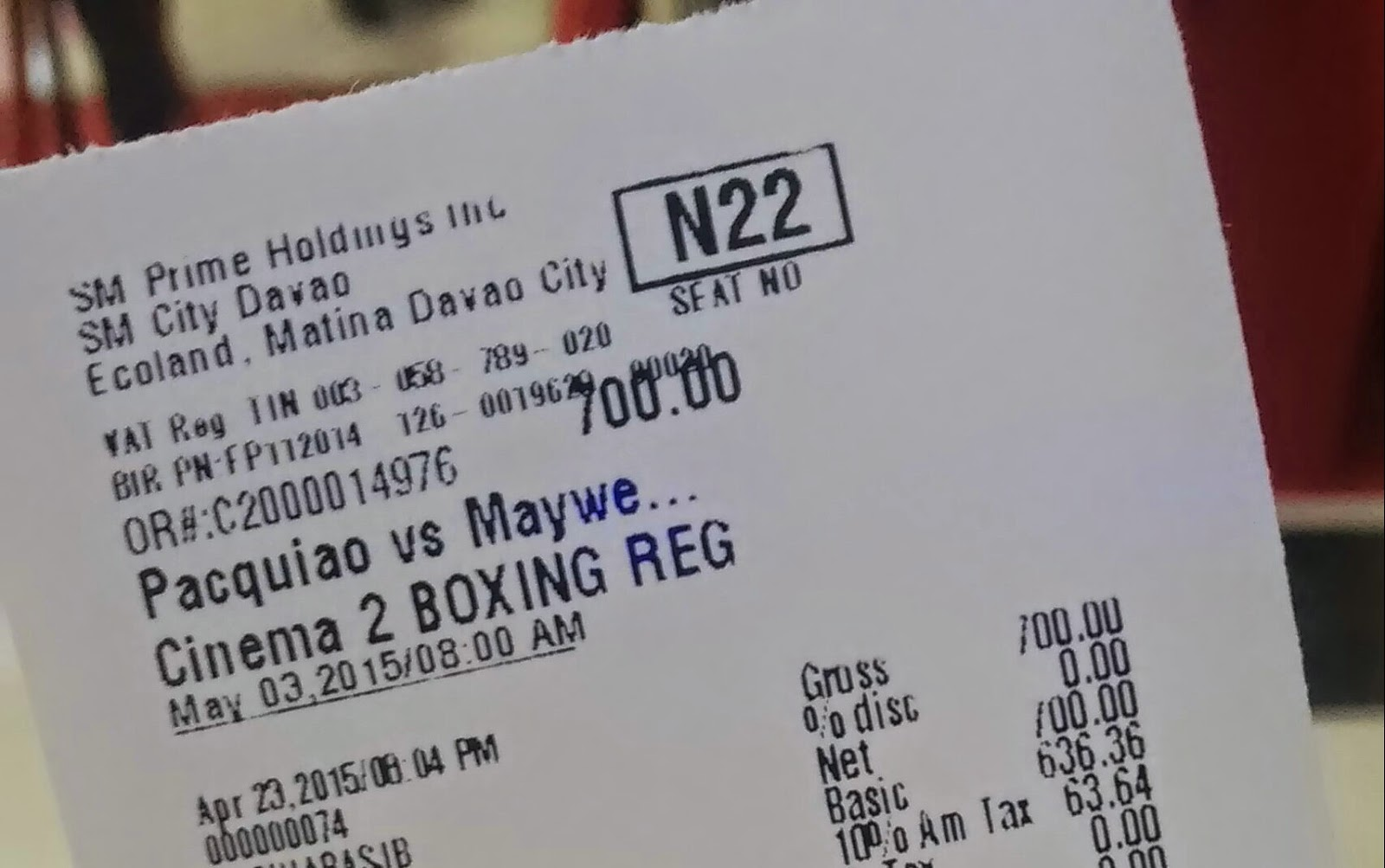 Pacquiao-Mayweather at SM Cinema