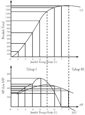 Produksi Total (TP), Produk Rata-Rata (AP), dan Produk Marjinal (MP)