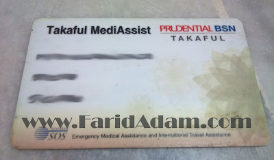 prubsn medical card, prudential takaful