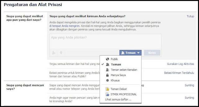 pengaturan dan alat privasi