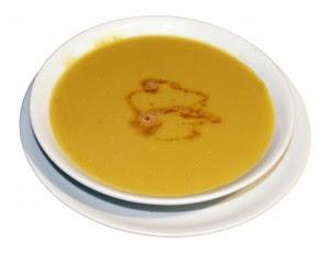 Receita de Sopa de Ervilha com Mandioquinha