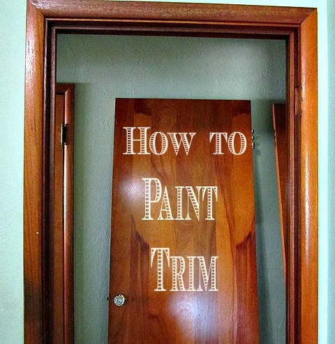 Burnished adornments how to paint wood trim part one for How to paint trim