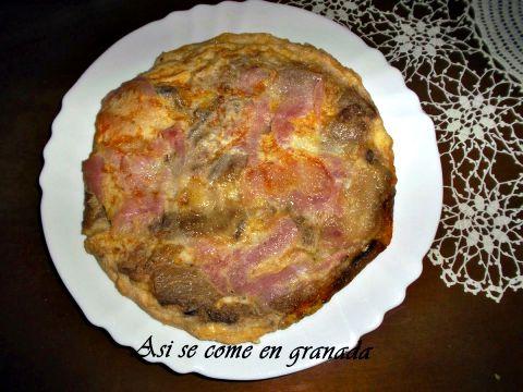 Tortilla de Berenjenas, Jamón Cocido y Queso
