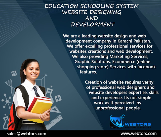 School Education Website Manufacturer website designing in karachi lahore pakistan