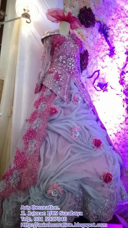 kebaya pengantin pink