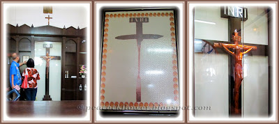 A couple of crucifix inside the Chapel of Santa Cruz, Malim in Malacca