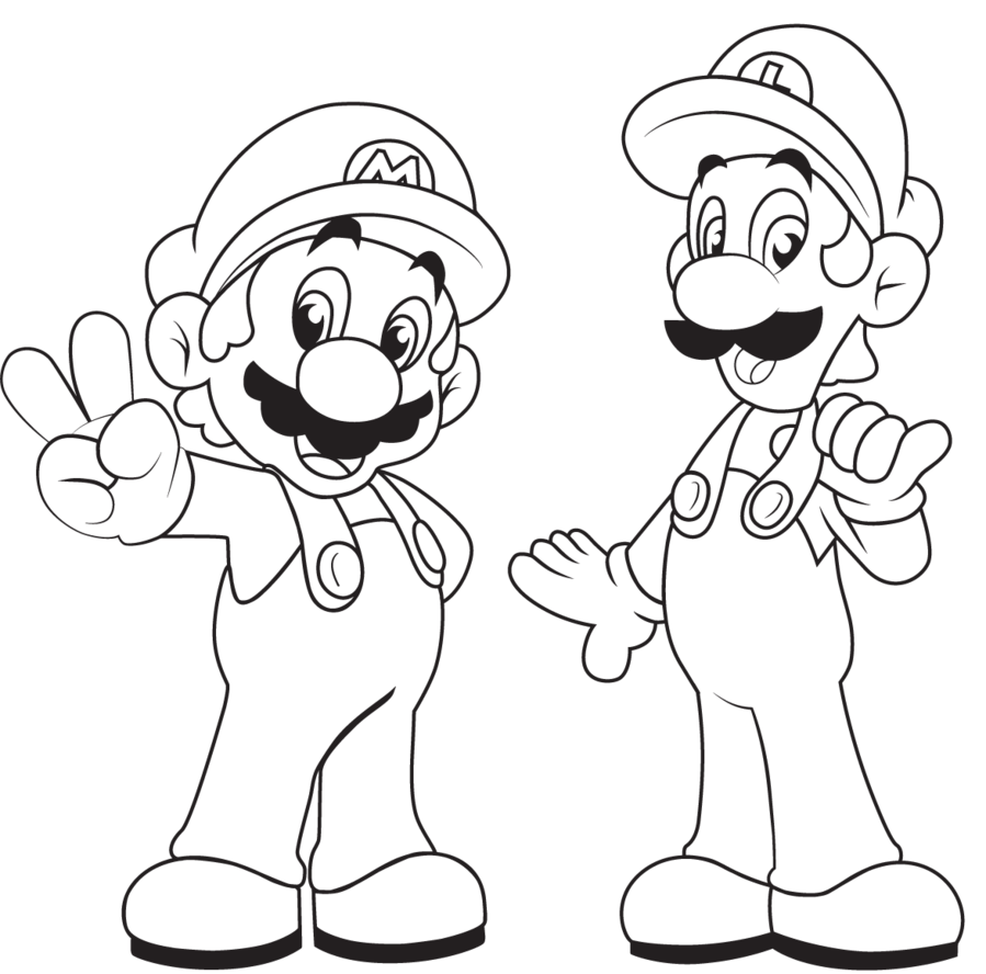 Sonic and mario printables free coloring pages on art coloring pages - Mario Bros Coloring Pages To Print