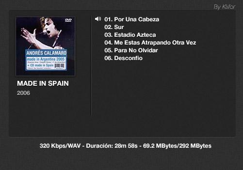 Andrés Calamaro - Discografía (Mp3, FLAC y más) 29 GBytes