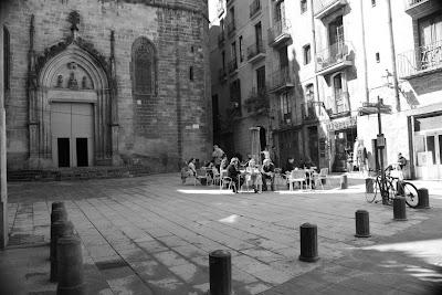 Plaça de Sant Just in Barcelona Gothic Quarter