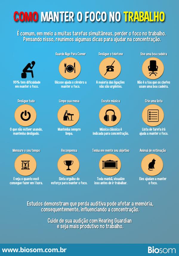 12 Dicas para manter o foco no trabalho