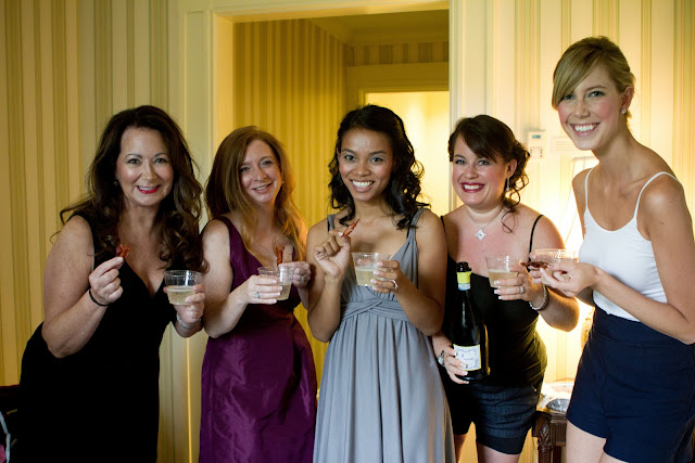 Bridal Party with Bacon and Prosecco - Photo Courtesy of Brian Samuels Photography