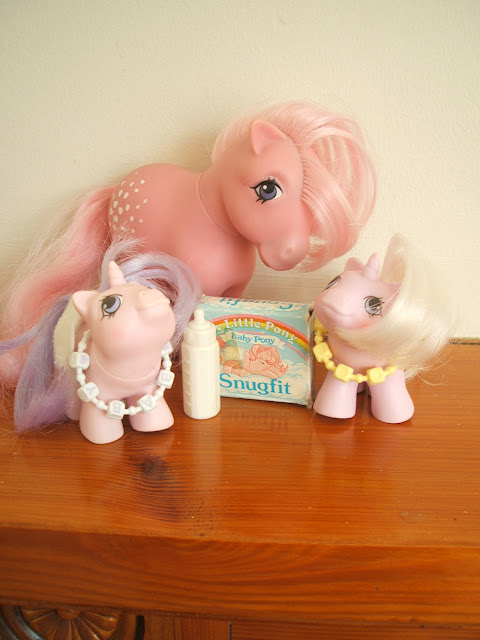 vintage, my little pony, cotton candy, baby twins