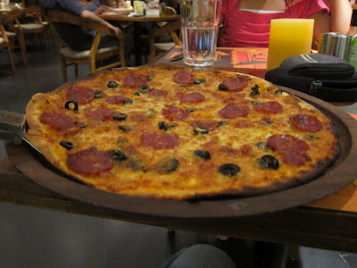 Pepperoni Pizza at Cafe Mangii Pune