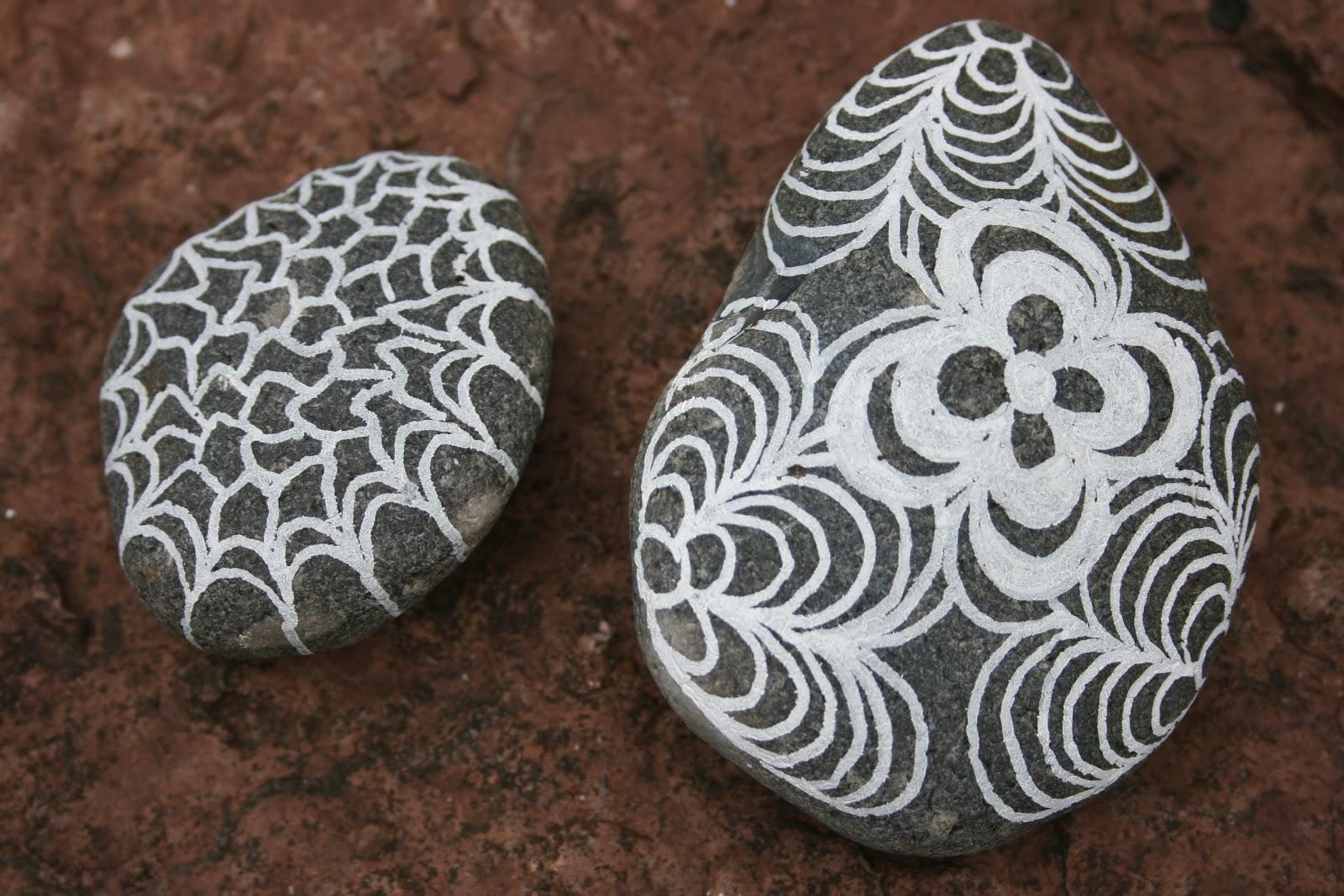 posca tusser på sten