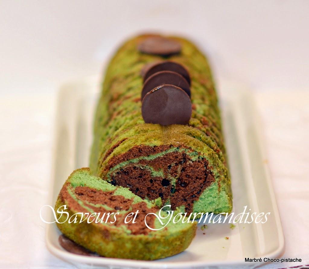Cake Marbré Choco-Pistache.