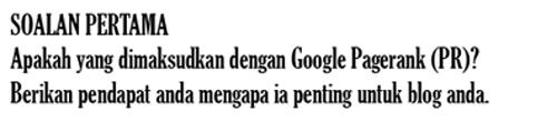 Maksud Google Pagerank