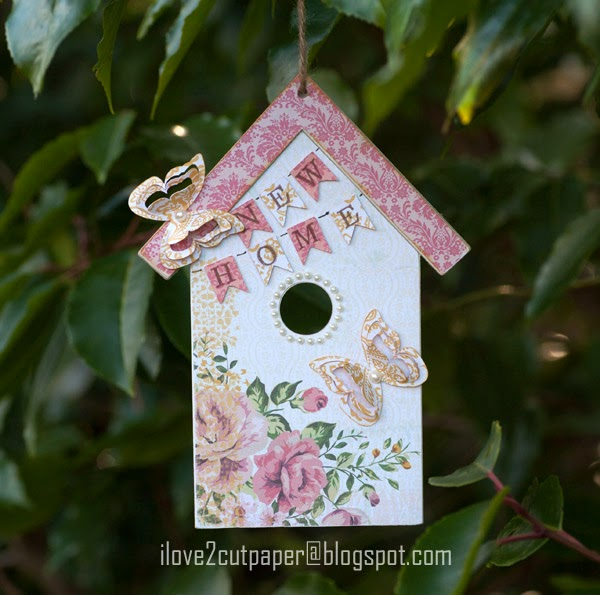 Birdhouse, Wooden Ornament - New Home