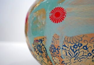 Chris Taylor Ceramic Vase detail