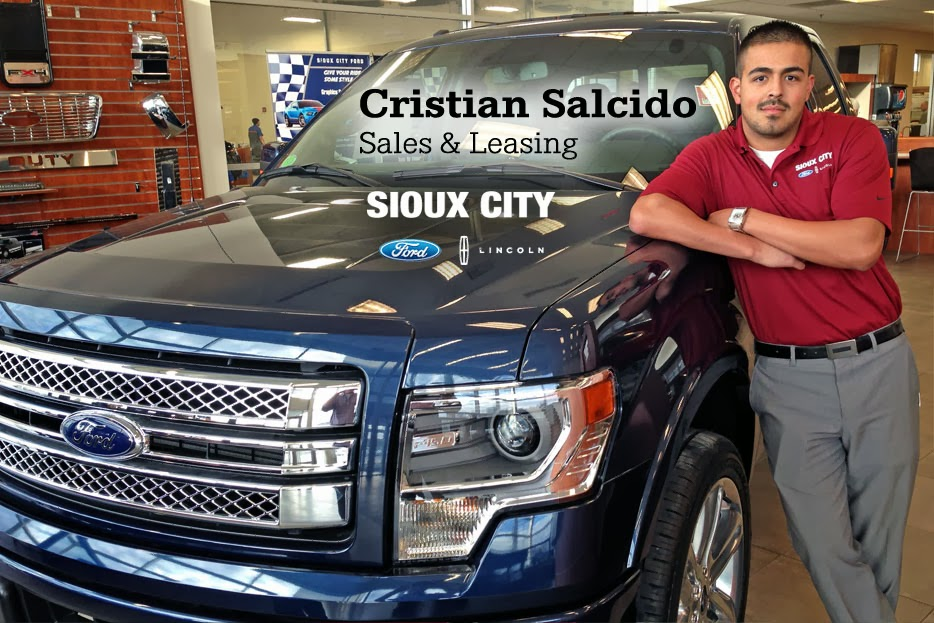 Sioux City Ford >> Meet Us Monday Cristian Salcido Sales Leasing Consultant