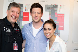 Cory Monteith from GLEE with Ania and I