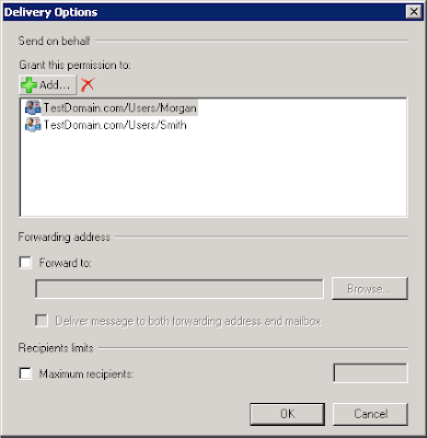 How to Set Send on Behalf Permission using EMC